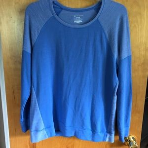 Tek Gear Blue Long Sleeve Dry Tek Shirt Size XL